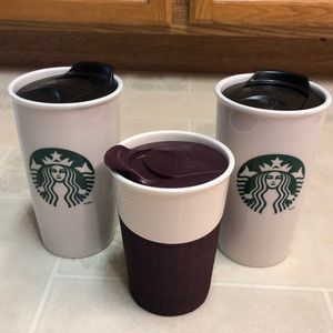 Starbucks ceramic tumbler bundle
